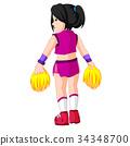 Cute cheerleader cartoon 34348700