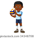 kids playing volleyball 34348708