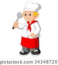 chef holding spatula 34348720