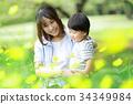 花と親子 34349984