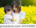 花と親子 34349985