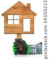 Wooden House - Construction Industry Concept 34350213