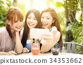 restaurant, selfie, friends 34353662