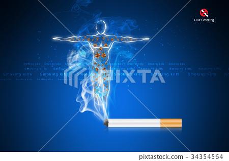 Smoking kills human body 34354564