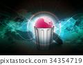 Globe in trash bin 34354719