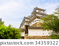 Main tower of the Himeji Castle in Japan 34359322