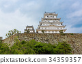 Main tower of the Himeji Castle in Japan 34359357