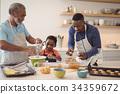 Boy, Kitchen, Cookies 34359672
