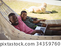 Father, Relaxing, Laptop 34359760