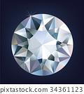 A Shiny bright diamond. Vector illustration 34361123