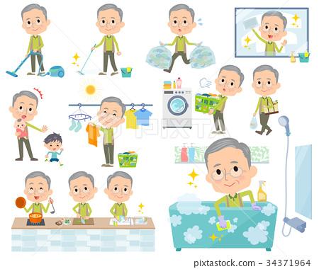 Green wear grandfather_housekeeping 34371964