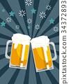 啤酒 淡啤酒 吐司 34372893