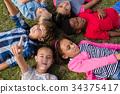 Child, Overhead, Field 34375417