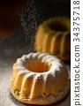 戚风蛋糕 甜点 甜品 34375718