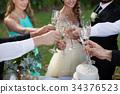 客人 祝酒 香槟 34376523