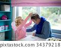 女孩 少女 父親 34379218