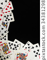 Poker Cards background and texture 34381298