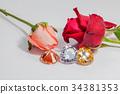 light pendant shine on the colorful gemstones. 34381353
