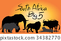 Big five Illustration vector. 34382770
