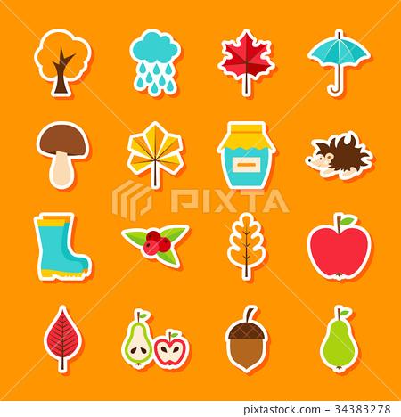 Autumn Flat Stickers 34383278