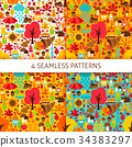 Autumn Season Seamless Patterns 34383297