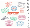 visa passport travel 34383316