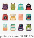 Children or kids school bags or rucksacks 34383324