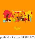 autumn, design, greeting 34383325