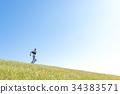 ผู้ชาย,ชาย,ทุ่งหญ้า 34383571