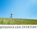 ผู้ชาย,ชาย,ทุ่งหญ้า 34383584