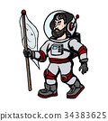 Vector astronaut . Modern creative illustration 34383625