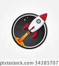 Rocket icon logo 34383707