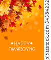Abstract Vector Illustration Autumn Happy 34384232