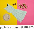 Fashionable concept. Female summer wardrobe 34384375