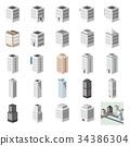 3D 건물 · 빌딩 · 사무실 1 34386304