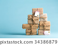 Collection of Christmas present boxes 34386879