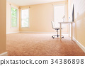 Large interior room with sunlight 34386898
