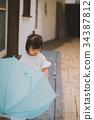 umbrella, brolly, child 34387812