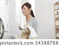 媽媽,家庭主婦,洗衣店 34388768