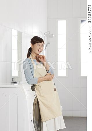 媽媽,家庭主婦,洗衣店 34388773