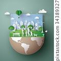 绿色 生态 概念 34389327