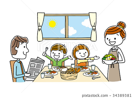 Family: Meal, Dining, Breakfast 34389381