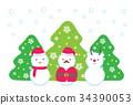 คริสต์มาส,ตุ๊กตาหิมะ,ซานต้า 34390053