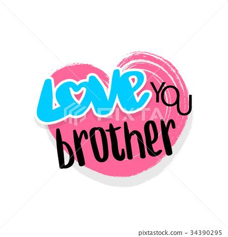 Love you grunge funny emblem 34390295
