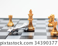 Chess board game gold player killed silver king fo 34390377