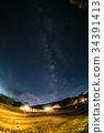 starry, sky, milkyway 34391413
