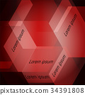 Red squares abstract background. vector 34391808