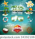 background, vector, illustration 34392106