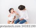 父母身份 父母和小孩 牙膏 34393190