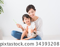 엄마와 아이 치과 치료 34393208